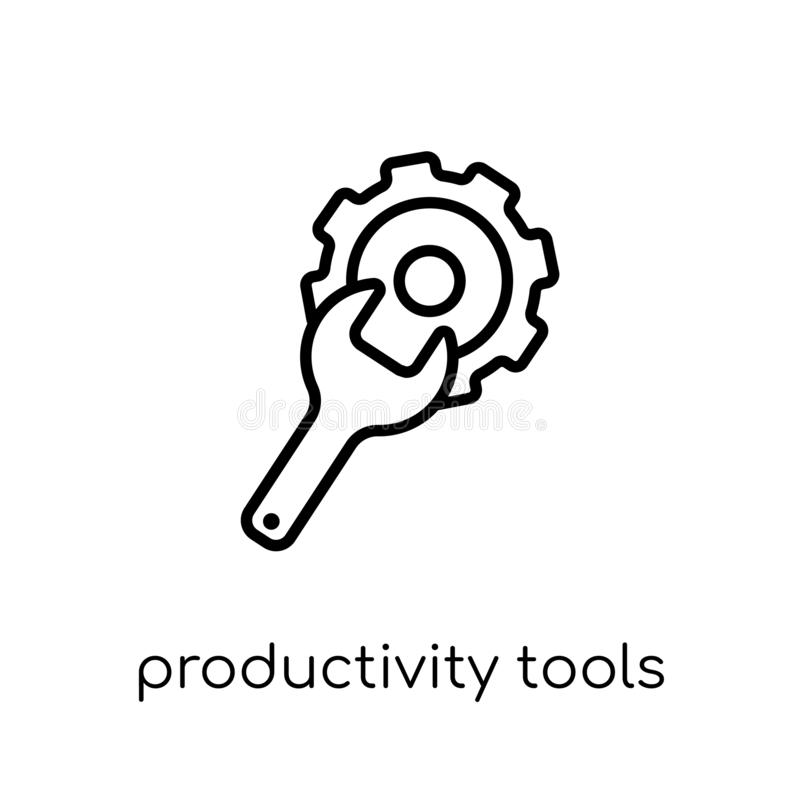 productivity Tools icon from Productivity collection. stock illustration