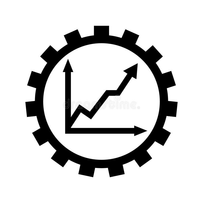 Productivity vector icon. production sign. efficiency illustration symbol. increase logo. vector illustration