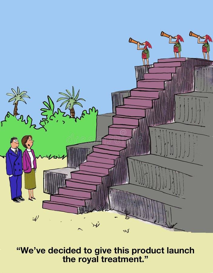 Productlancering royalty-vrije illustratie