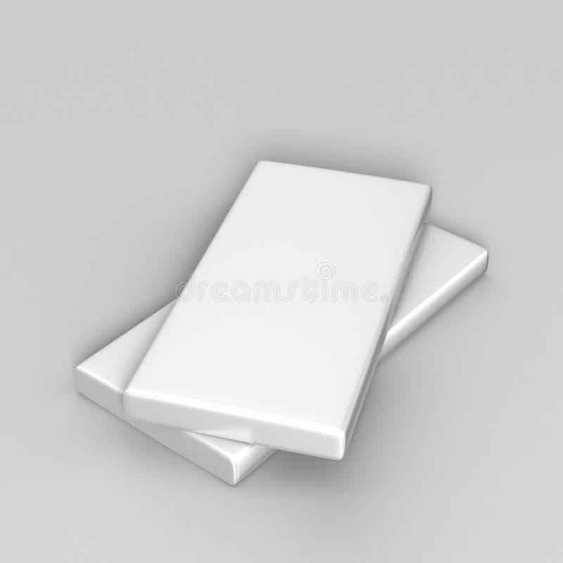 Producto blanco en blanco que empaqueta la caja delgada para la mofa para arriba o la presentación del diseño libre illustration
