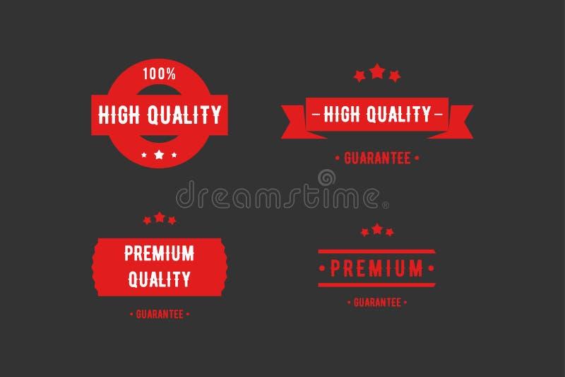 Producto de alta calidad, insignia superior del producto, etiqueta para su producto ilustración del vector