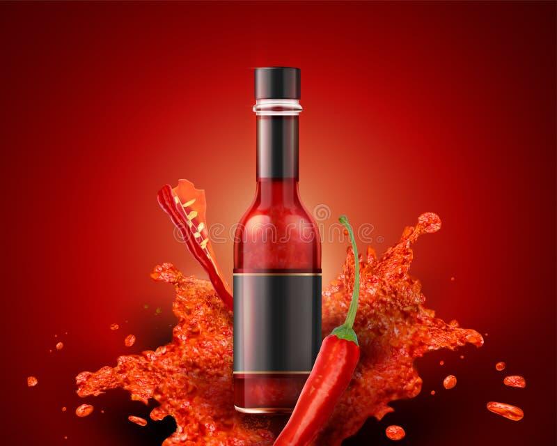 Producto de la salsa caliente libre illustration