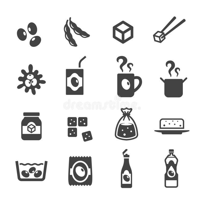 producto del sistema del icono de la soja libre illustration