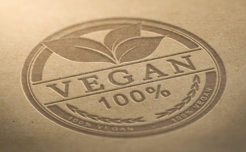 Producto del vegano certificado libre illustration