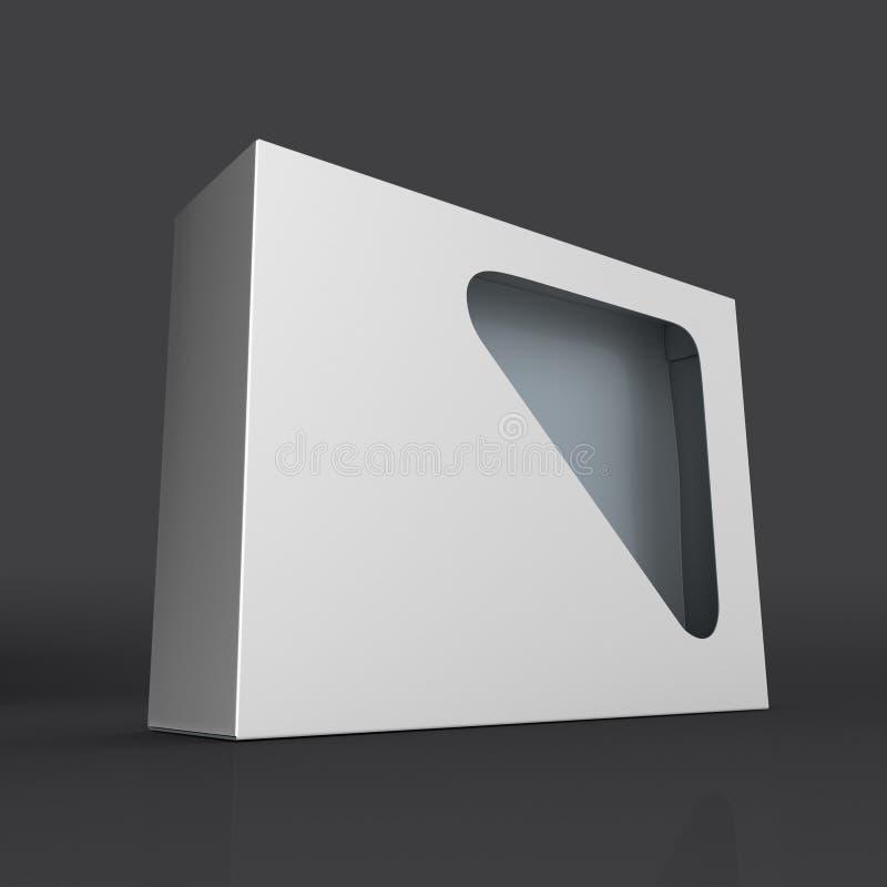 Producto en blanco de la caja del cartón con el cristal stock de ilustración