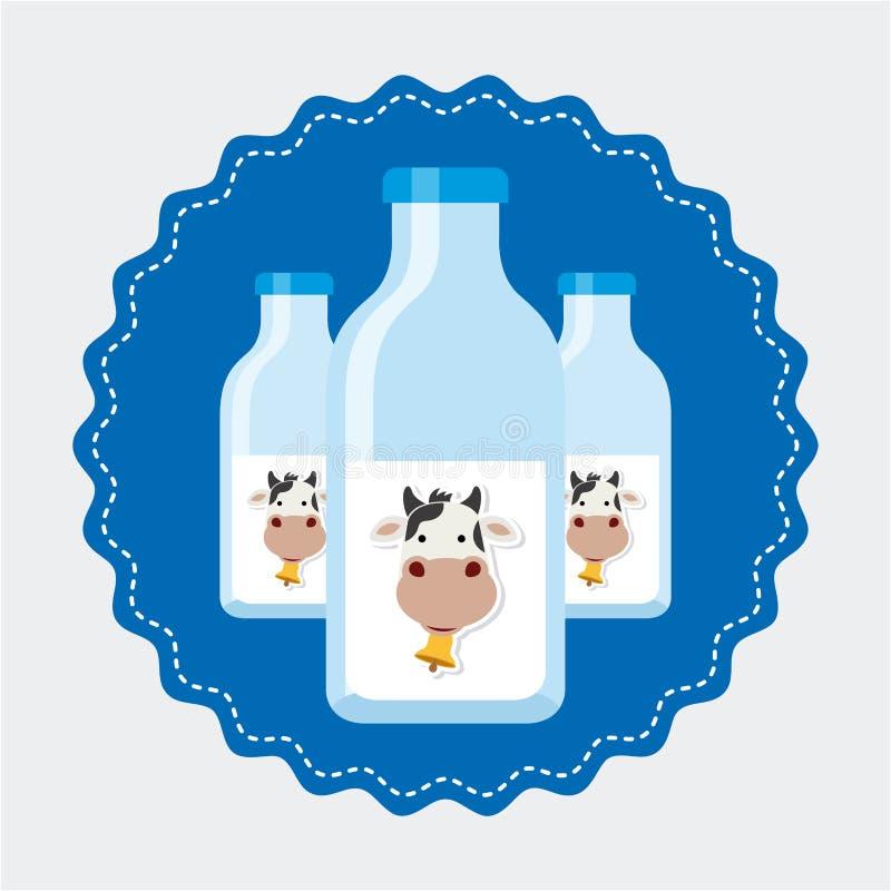 Producto lácteo stock de ilustración