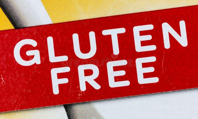Producto libre de la etiqueta de la comida del gluten alergy fotografía de archivo libre de regalías