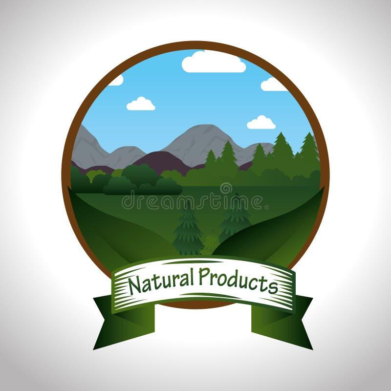 Producto natural del sello garantizado libre illustration