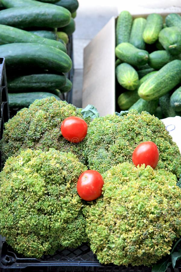 Producto-vehículos frescos de vegetables fotos de archivo