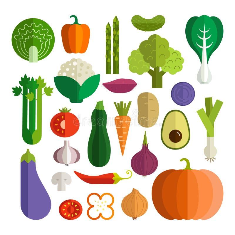Producto-vehículos frescos de vegetables stock de ilustración