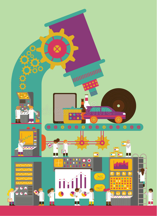 Productontwikkeling stock illustratie
