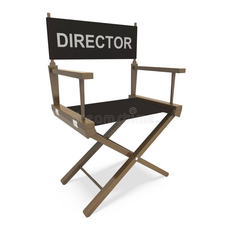 Productor cinematográfico Or Moviemaker de director Chair Shows ilustración del vector