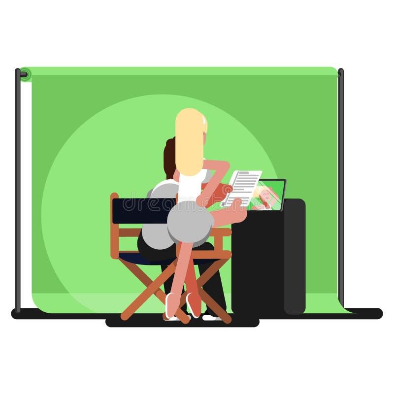 Productor y actriz ilustración del vector