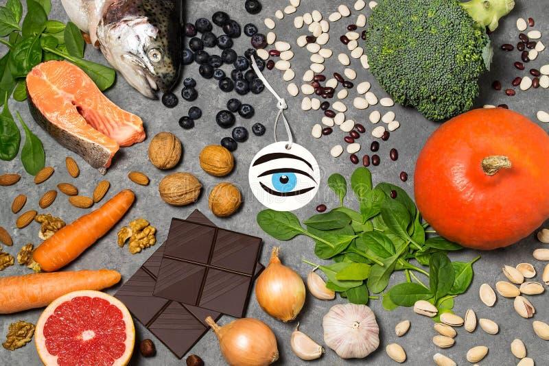 Productos alimenticios útiles para la visión imágenes de archivo libres de regalías