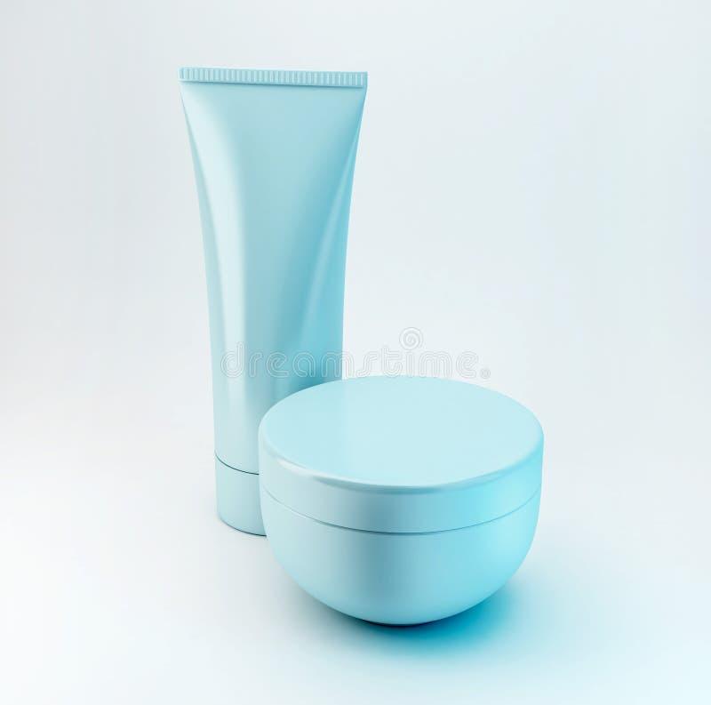 Productos cosméticos 4 imagenes de archivo