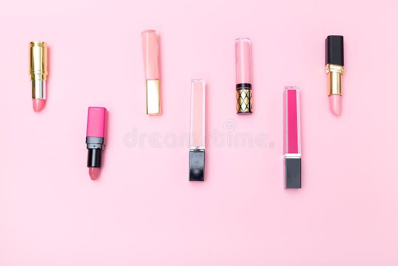 Productos cosméticos Visión superior Estilo isométrico fotos de archivo libres de regalías
