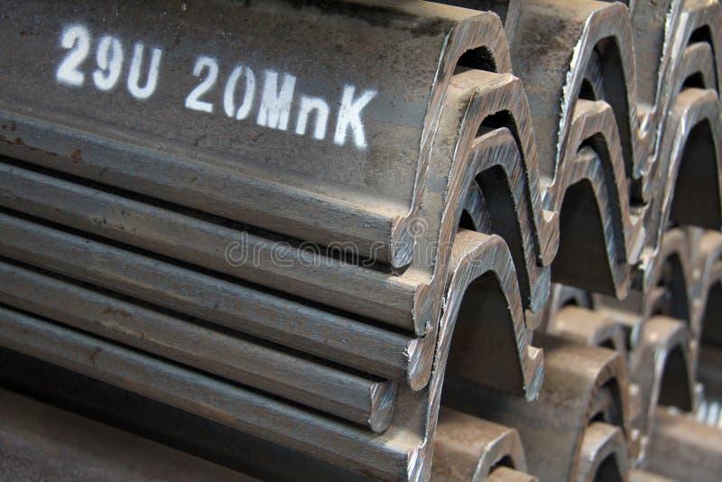 Productos de acero de los materiales en la sección representativa imagen de archivo libre de regalías