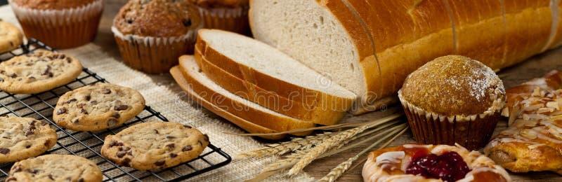 Productos de la panadería fotos de archivo libres de regalías