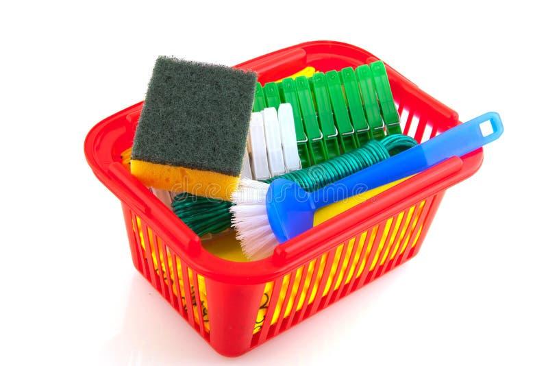 Productos de limpieza fotografía de archivo libre de regalías