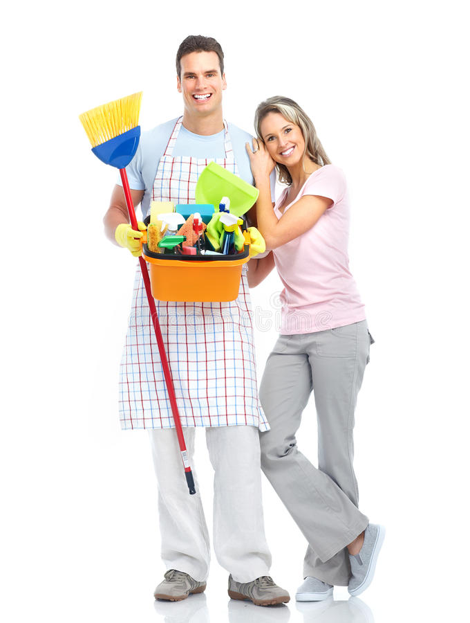 Productos de limpieza de discos del ama de casa. foto de archivo libre de regalías