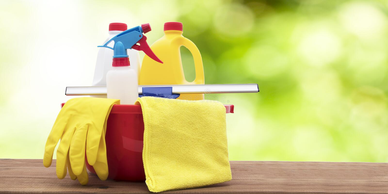 Productos de limpieza ecológicos imagenes de archivo