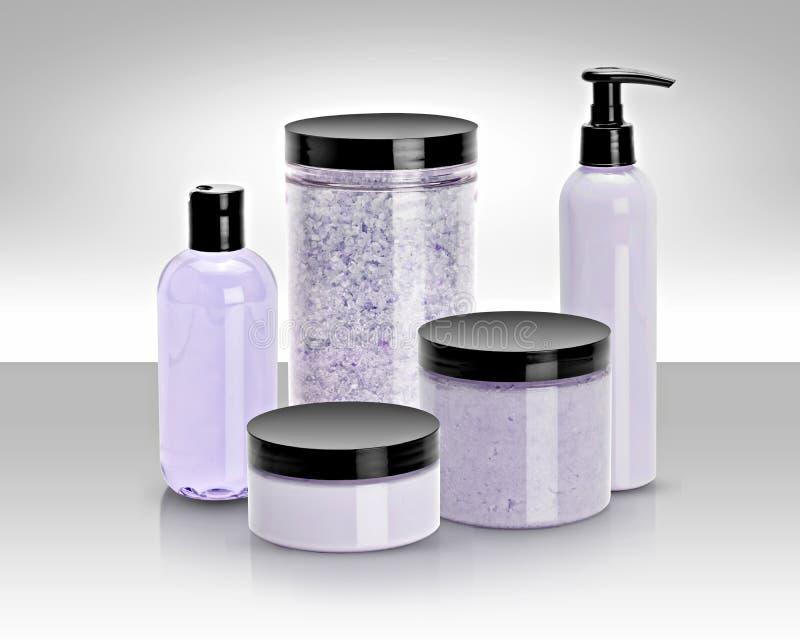 Productos del baño y de belleza foto de archivo libre de regalías