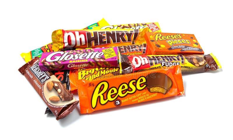 Productos del chocolate de Hershey clasificado fotos de archivo