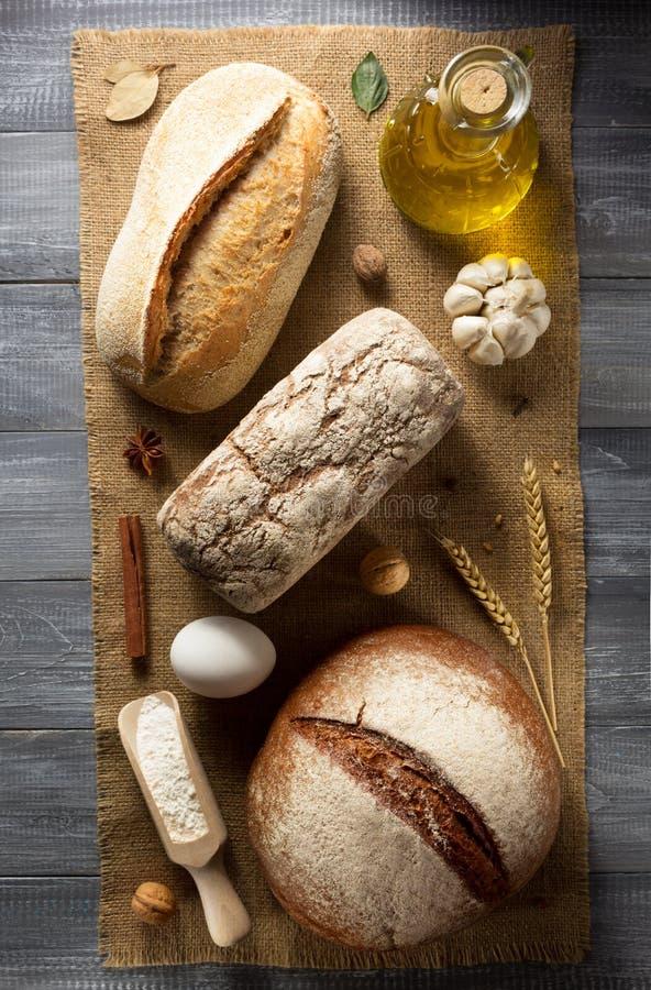 Productos del pan y de la panadería fotos de archivo