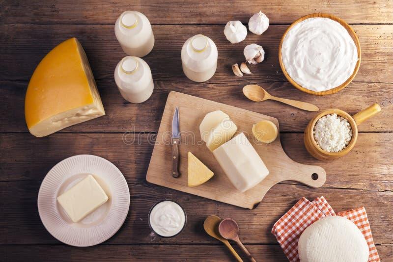 Productos lácteos foto de archivo