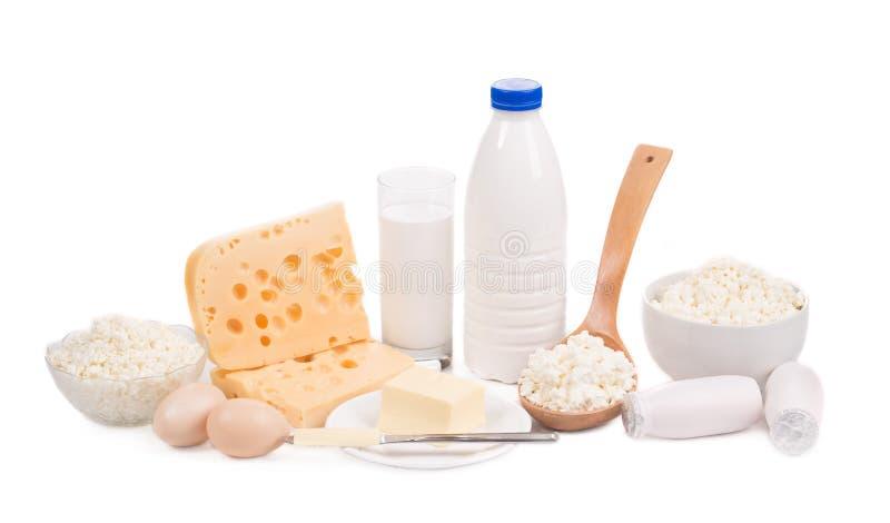 Productos lácteos deliciosos imagenes de archivo