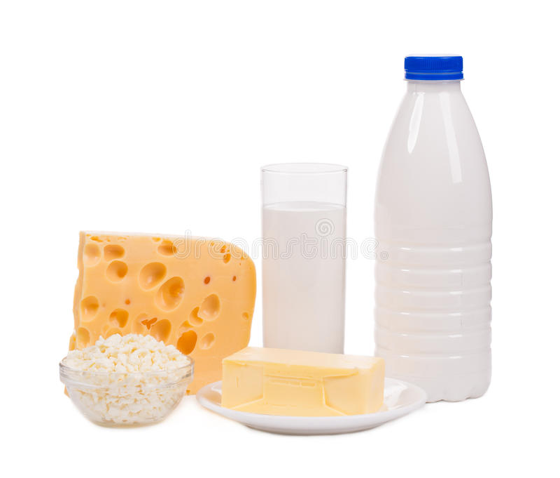 Productos lácteos deliciosos fotos de archivo