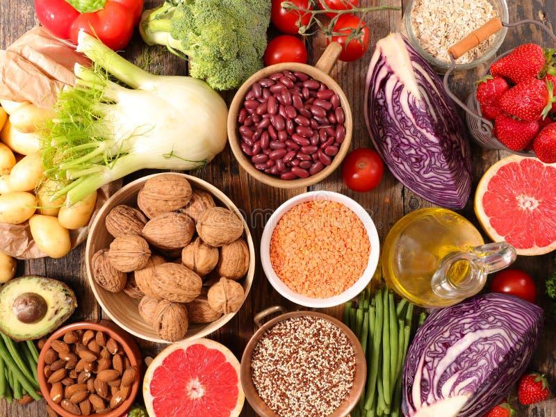Productos orgánicos sanos fotografía de archivo
