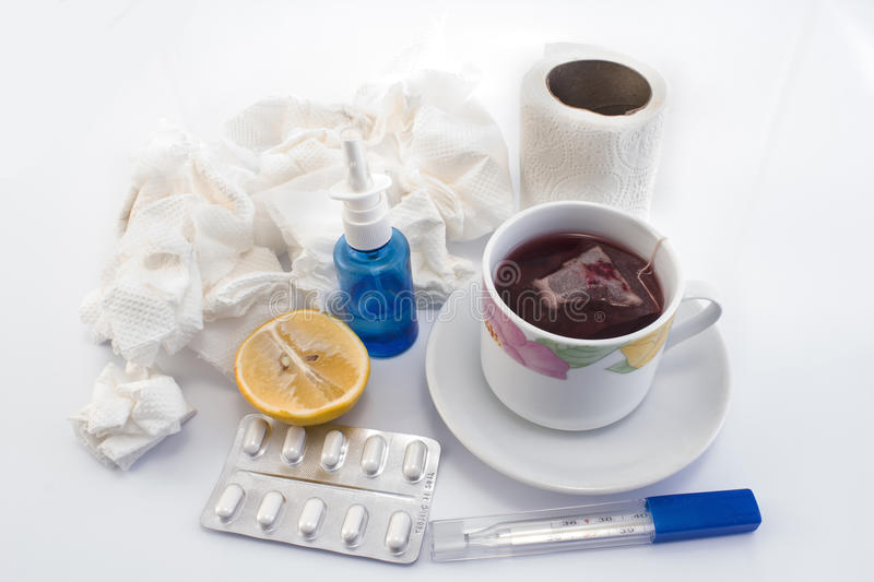 Products against colds and flu royalty free stock images
