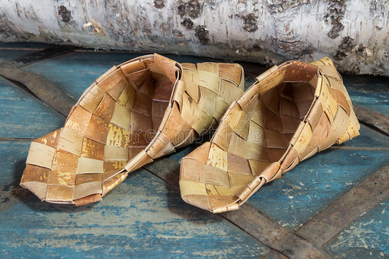 Products from birch bark stock photography