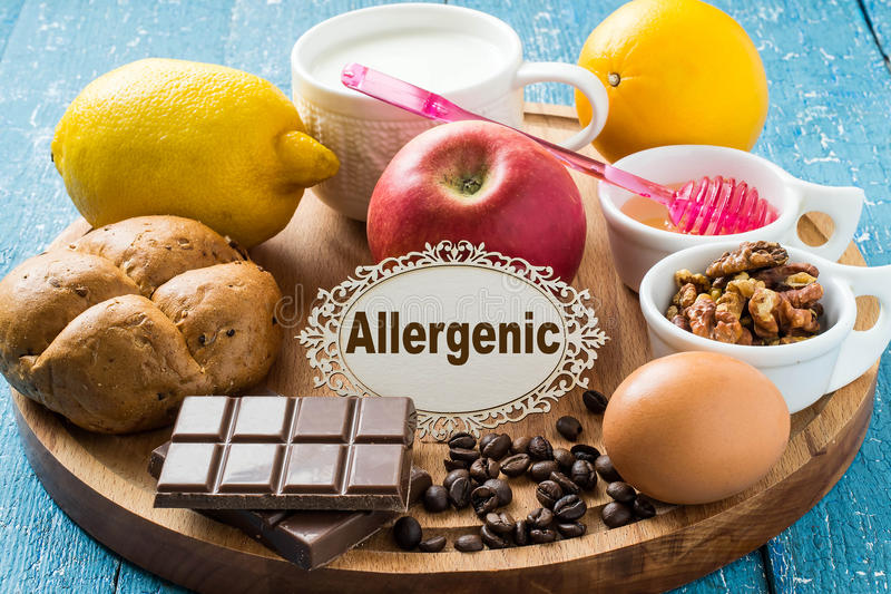 Products that cause allergy stock images
