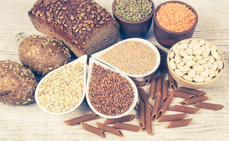 Carbohydrates - a basic source of energy for the human body. stock photography