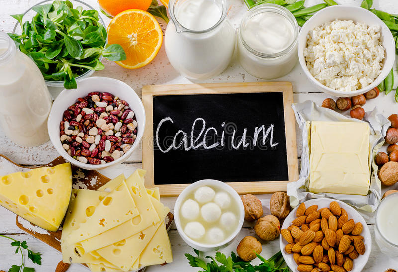 Products rich in calcium. stock photography