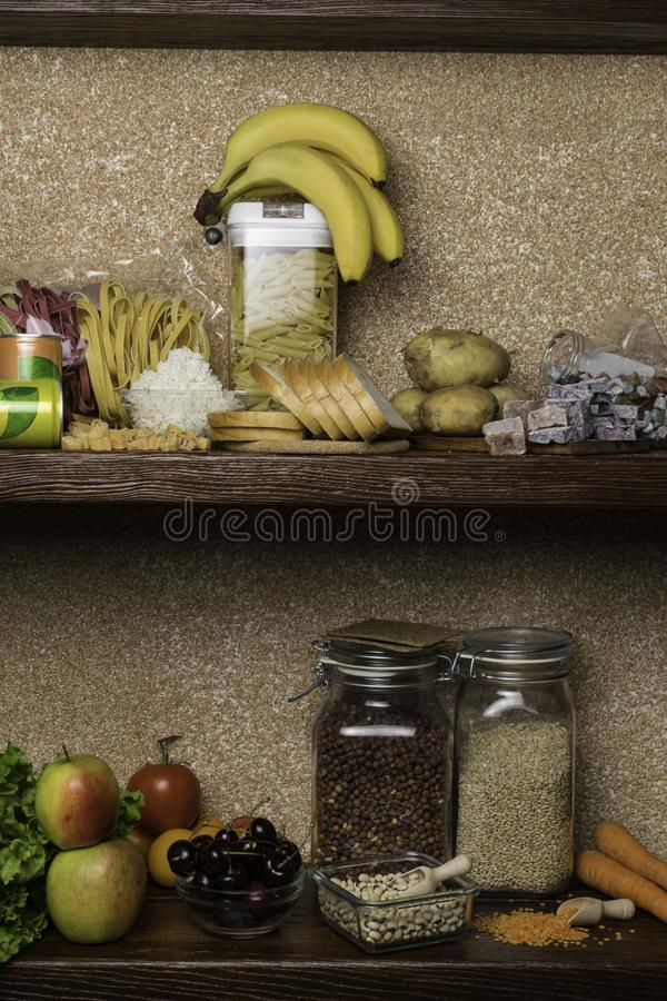 Products rich of complex carbohydrates. Foods Highest in Carbohydrates. Healthy diet eating concept. Fast and slow carbohydrates stock images
