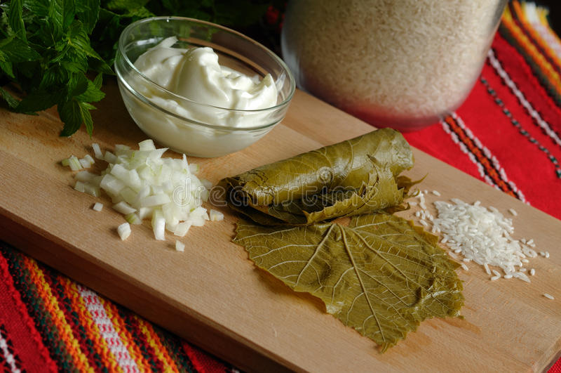 Products for sarma (dolmadakia) stock photos