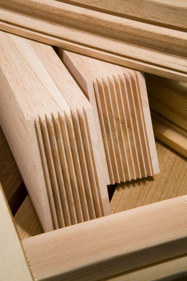 Products from wood stock photo