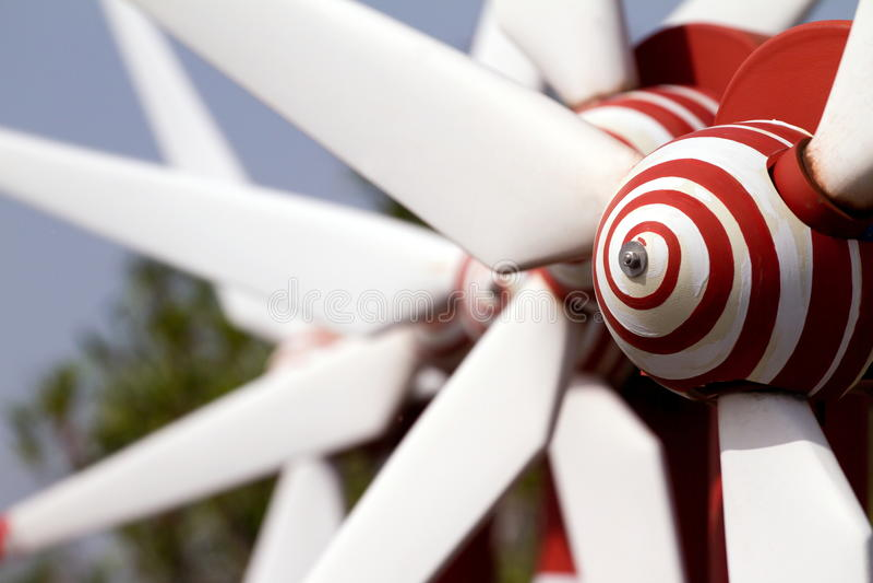 Produire des moulins à vent image libre de droits