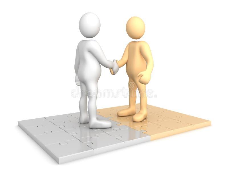 Produire un partenariat illustration libre de droits