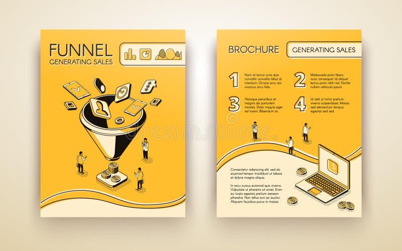 Produisant de la présentation de ventes pagine la disposition de vecteur illustration de vecteur