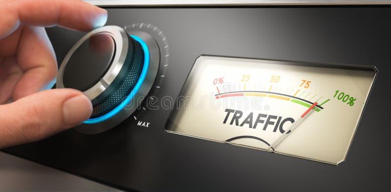 Produisez de plus de trafic de site Web illustration libre de droits