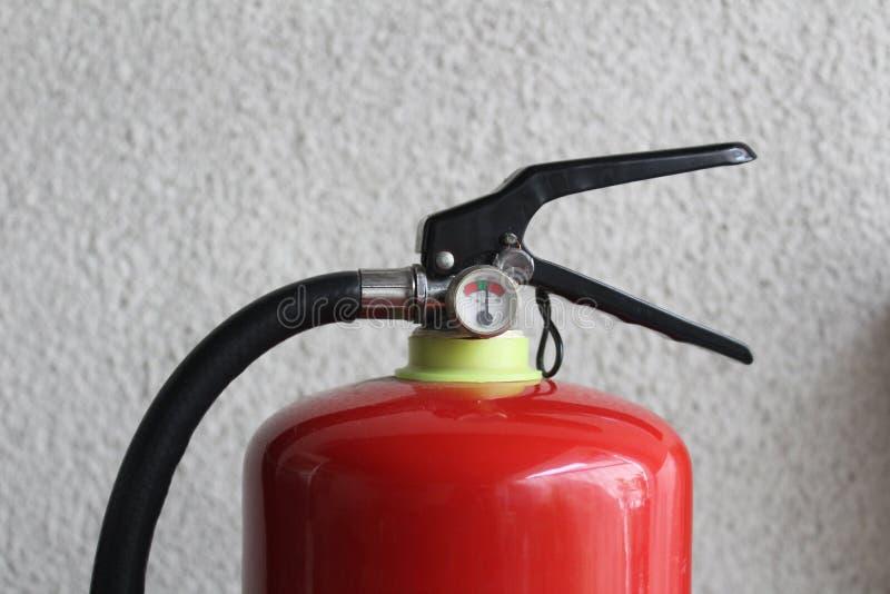 Produit chimique sec du feu et d'équipements de sécurité photographie stock libre de droits