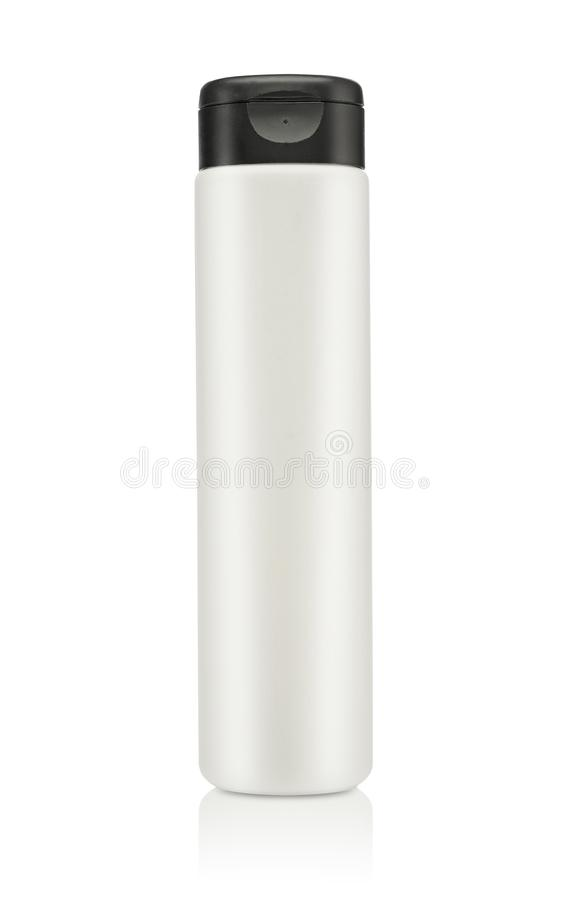 Produit cosmétique vide d'isolement au-dessus d'un blanc photos stock
