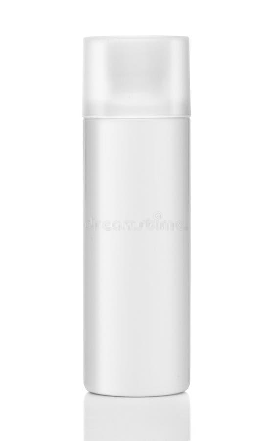 Produit cosmétique vide d'isolement au-dessus d'un blanc photo libre de droits