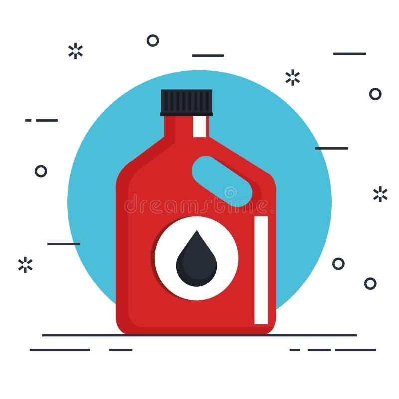 Produit de bouteille d'huile de voiture illustration libre de droits