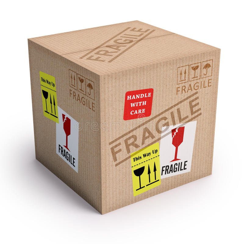 Produit fragile illustration stock