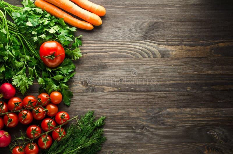 Produit-légumes frais de vegetables Fond coloré de légumes Vegeta sain images stock